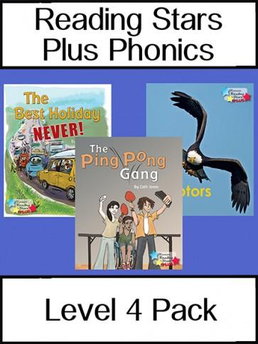 Reading Stars Plus Phonics Level 4 Pack