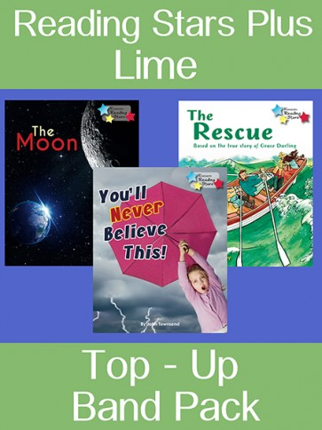 Reading Stars Plus Lime Top-Up Band Pack