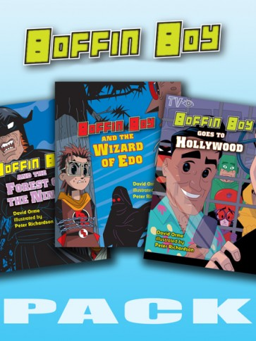 Boffin Boy Reading Books Set 2