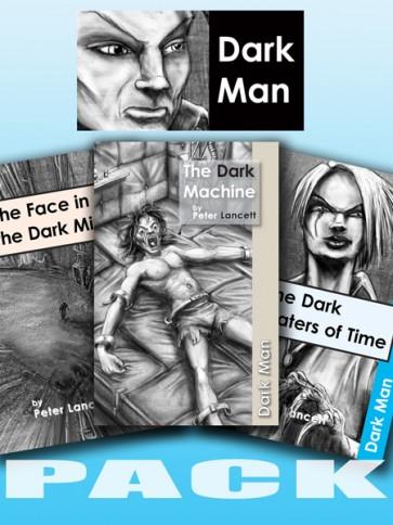 Dark Man Reading Books Set 4
