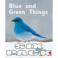 Blue and Green Things (6 Pack)