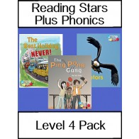 Reading Stars Plus Phonics 4 Pack