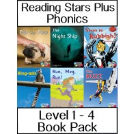 Reading Stars Plus Phonics Level 1 - 4 Book Pack